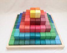مکعب های رنگی چوبی چلیک