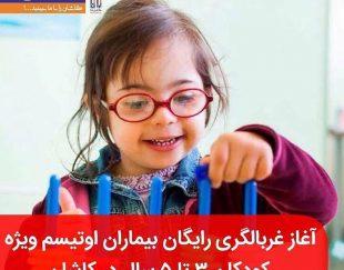 غربالگری رایگان کودکان اوتیسم در کاشان